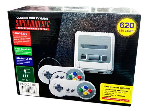 Consola tipo supernintendo mini 600 juegos 2 controles