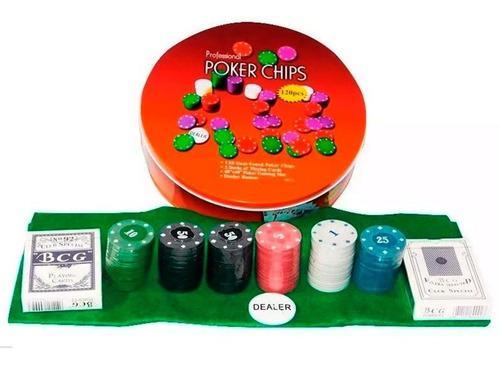 Poker texas holdem 120 fichas estuche de lujo juego de mesa