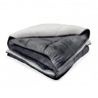 Cobija flannel borrego real tex unicolor – gris
