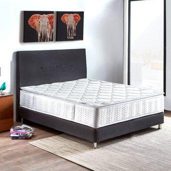 Combo colchon paraíso atlanta doble 140*190 cm + base cama