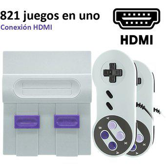 Consola de videojuegos retro portátil hd hdmi nes sfc con
