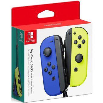 Control nintendo switch joy-con neon azul y amarillo