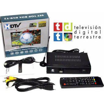 Decodificador tdt hdtv dvb full hd + control + antena