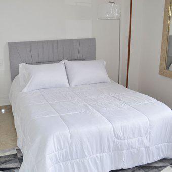 Edredón doble faz cama doble 140x190 hogareto blanco