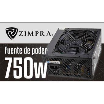 Fuente poder zimpra atx-750w 12cm