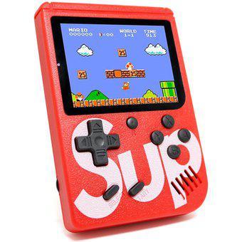 Mini consola mario bros recargable pantalla a color