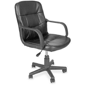Silla escritorio oficina gerencial ecocuero con brazos