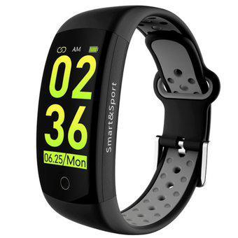 Smartband lemfo q6s pantalla lcd color podometro negro