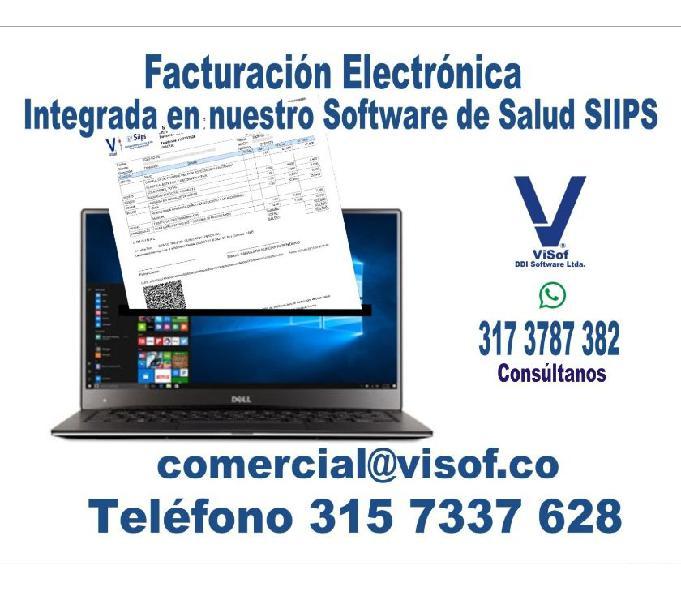 Video consulta, facturación electrónica. software ips,