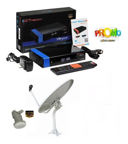 Combo tv satelital fta gtmedia v8 nova + antena 60cm + lnb