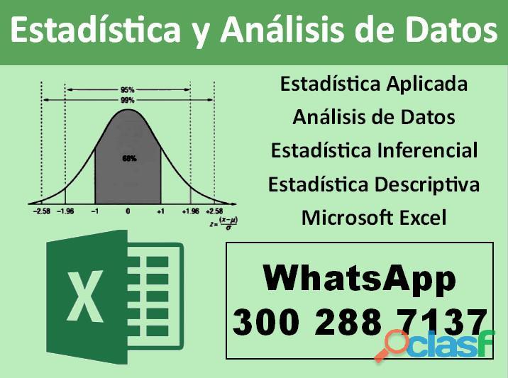 Clases de análisis de datos | estadística general (descriptiva e inferencial)