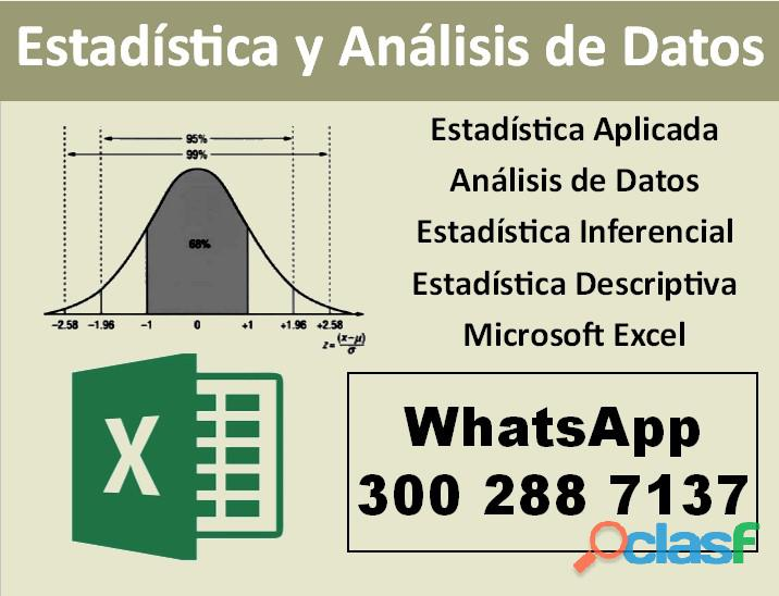 Clases de estadística general (descriptiva e inferencial) | análisis de datos