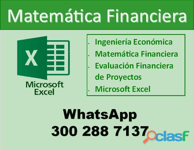 Clases de ingeniería económica | matemática financiera | evaluación de proyectos