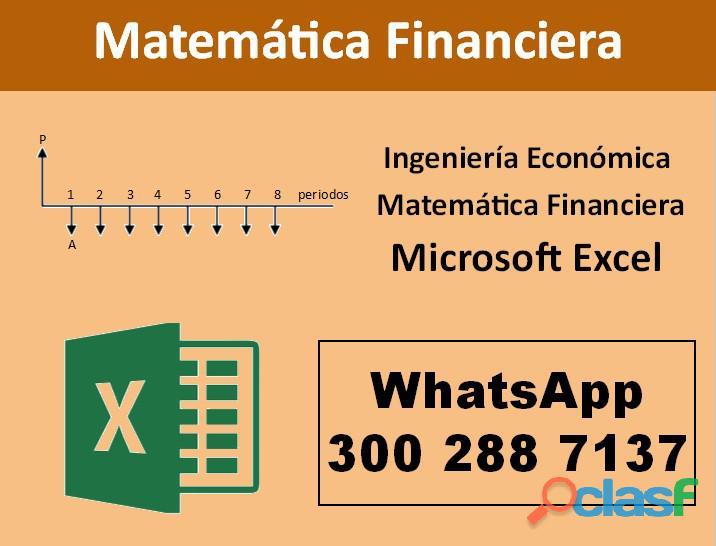 Clases de matemática financiera | ingeniería económica