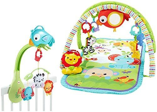 Fisher-price rainforest juguete gimnasio bebe 3 en 1
