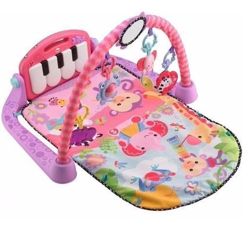 Gimnasio fisher price con piano sonidos bebes rosado dlt94