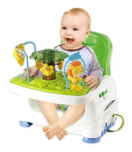 Silla comedor bebé portátil 2 en 1 con juguetes