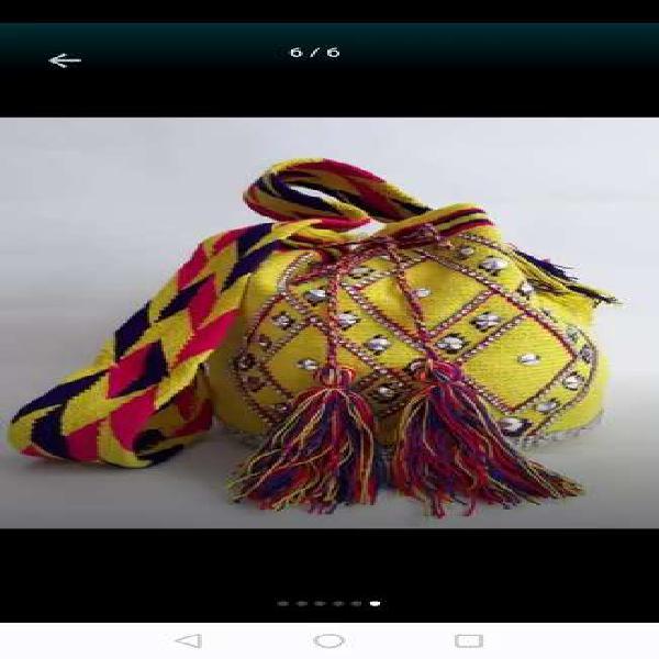 Hermosas mochilas 100% wayuu