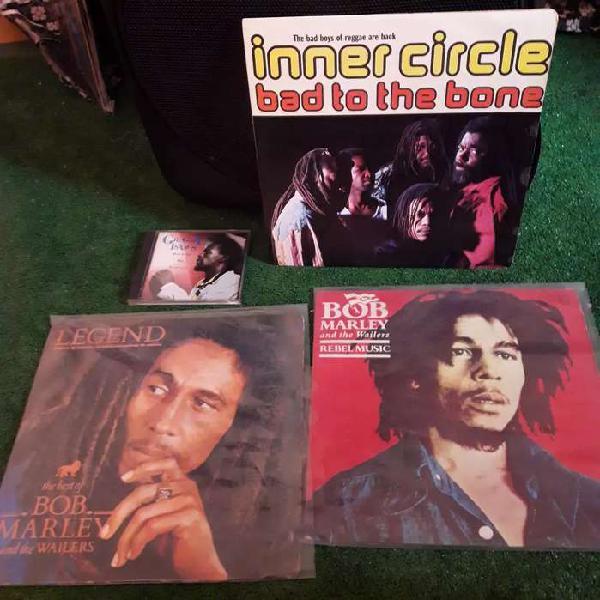 Lote 3 vinilos de reggae bob marley inner circle vinilo