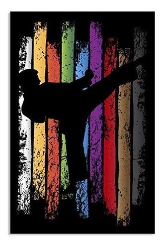 Póster de cinturón de karate artes marciales obras de arte