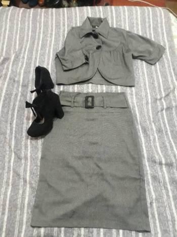 Conjunto falda 3/4 + torero