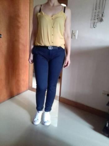 Pantalon jef azul oscuro mas blusita