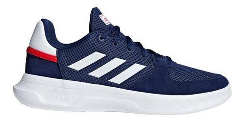 Adidas zapato fusion flow hombre - azul/blanco/rojo