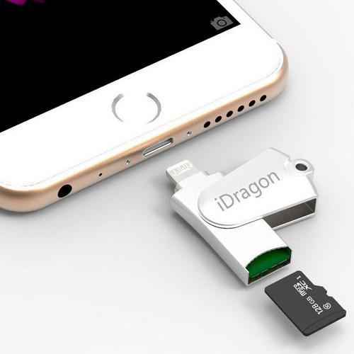 Lector memoria iphone ipad expansión hasta 128gb idragon