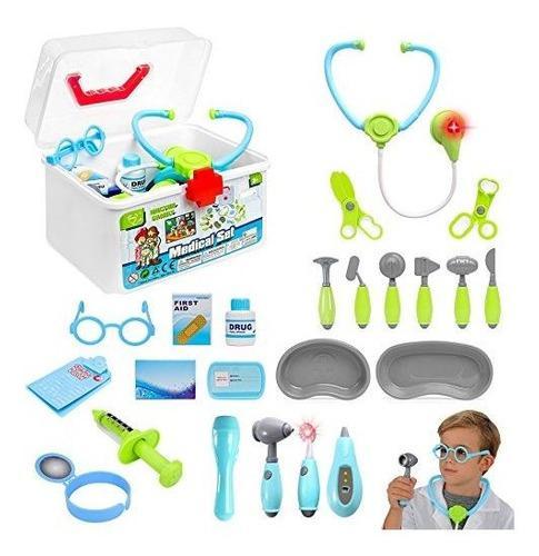 Liberty imports kids doctor set | 24 piezas | juego de rol n