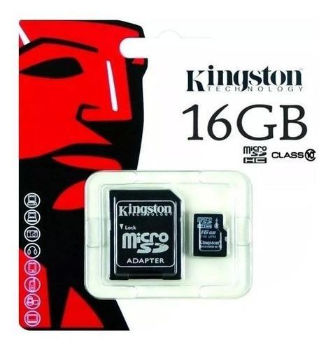 Memoria kingston micro sd 16 gb c 10 80 mb/seg sdcs/16gb