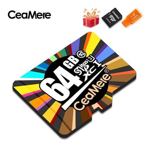 Memoria micro sd ceamere 64gb adaptador sd + obsequio usb