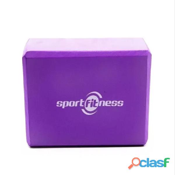 Cubo Para Yoga   Bloque Sportfitness Gym   Pilates Espuma 1