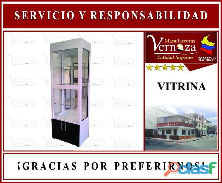 Vitrina exhibidora torre empresa manufacturas vernaza .