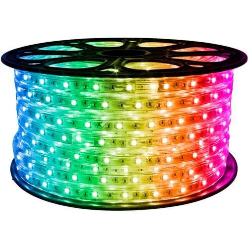 Cinta led rgb x 10 mt multicolor 110v rollo completo