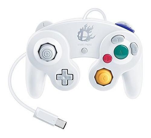 Nintendo Super Smash Bros Blanco Clasico Gamecube Controlado