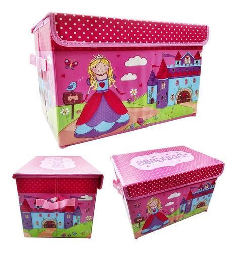 Organizador para niñas grande juguetes libros rosado