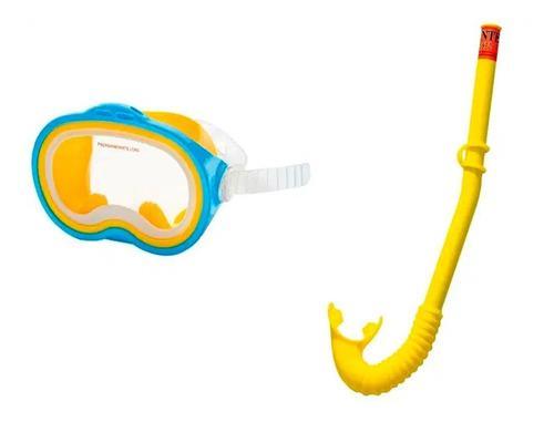 Set Careta Snorkel Intex Niños 55942 Mascara Y Tubo