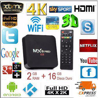 Tv Box 4K Quad Core D.D 16GB Ram 2GB Wifi Convertidor De TV