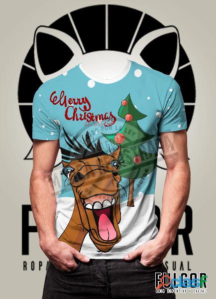 camisetas de navideñas para la familia