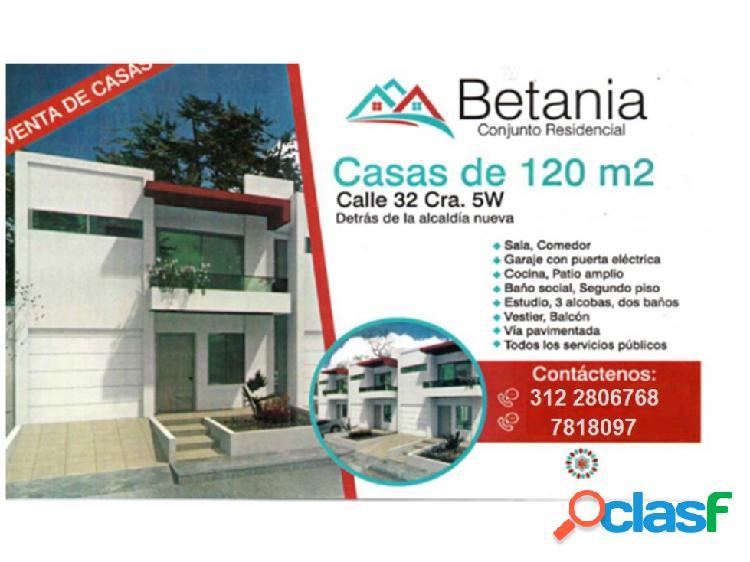 Casas en venta en el conjunto residencial betania