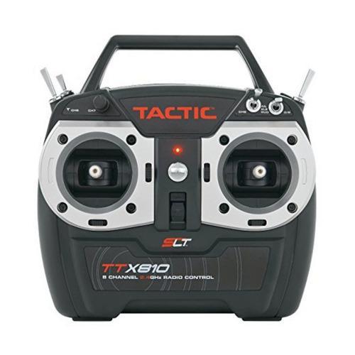 Radio tactic 8 canales 2,4ghz + receptor 6ch aeromodelismo