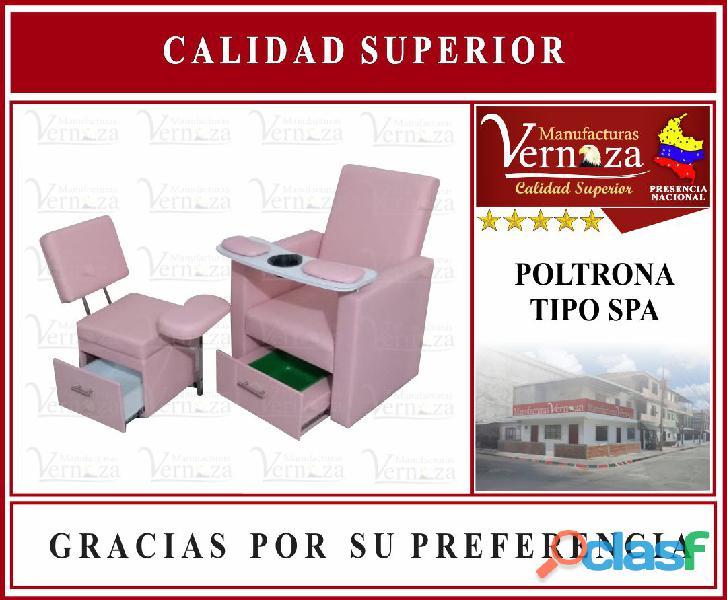 Poltrona tipo spa color palo rosa manufacturas vernaza