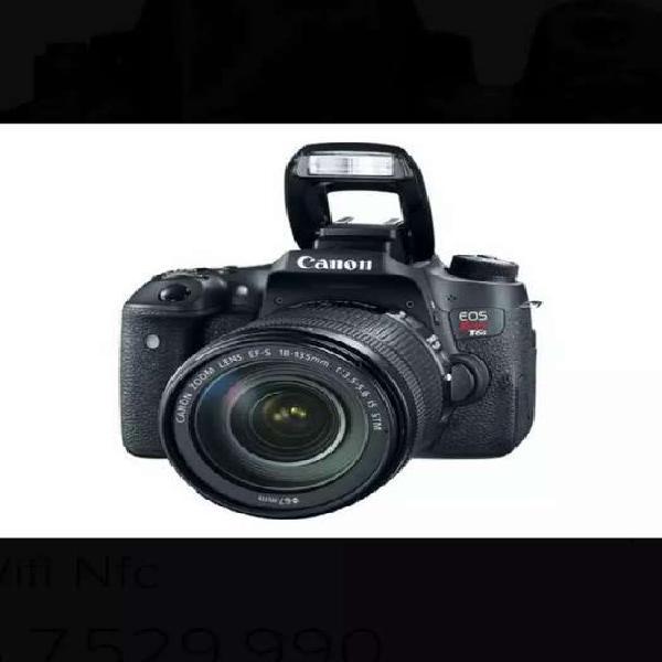 Canon eos rebel t6s 18-135mm camara 24.2mp wifi nfc+estuche