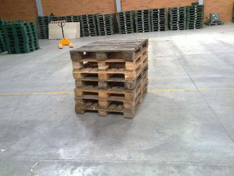 Estibas de madera usadas trafico pesado