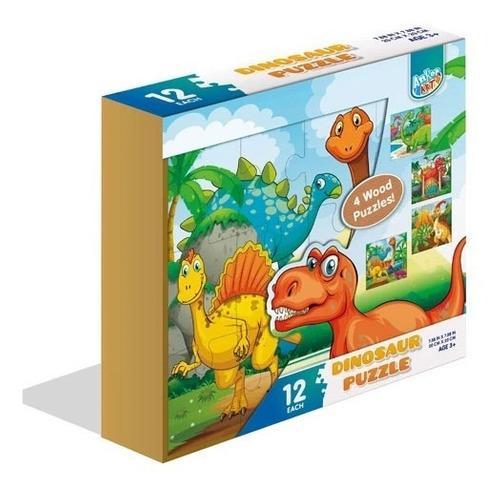 Rompecabezas 4 en 1 madera 48 fichas juego didáctico niños