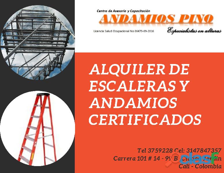 Alquiler de escaleras y andamios certificados en Cali