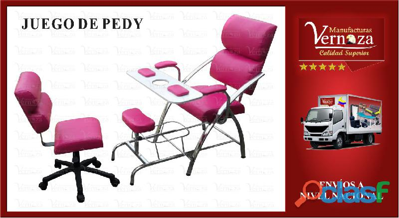 5 silla de manicura y pedicura con silla auxiliar