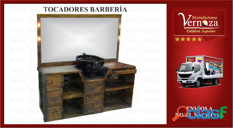 18 TOCADORES DE BARBERIA CON 4 BOMBILLOS HERMOSOS