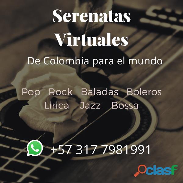 Serenatas bogota y serenatas virtuales a todo el mundo (rock, pop, balada, bolero)
