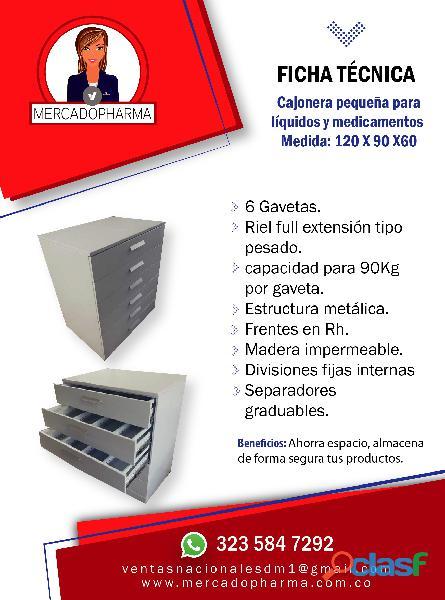 Vitrinas, estantes y mostradores para medicamentos